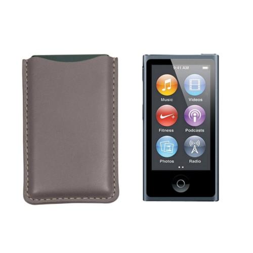 Tasche für iPod Nano - Hellbraun - Glattleder