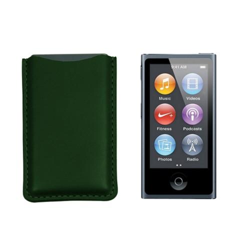 Tasche für iPod Nano - Dunkelgrün - Glattleder
