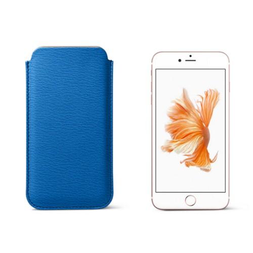 Capa clássica para iPhone 6 Plus/6S Plus - Azul Real - Couro de Cabra