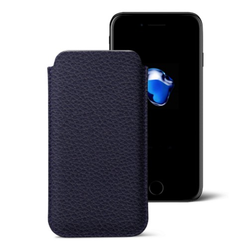 Funda clásica para iPhone 7 Plus - Violeta - Piel Grano