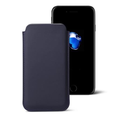 Funda clásica para iPhone 7 Plus - Violeta - Piel Liso