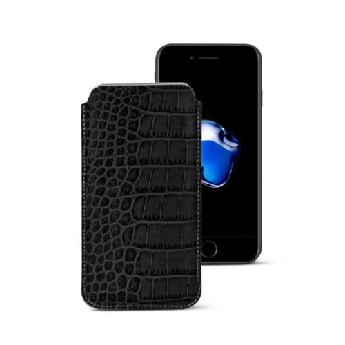 Funda clásica para iPhone 7 Plus - Negro - Piel Coco Grabado
