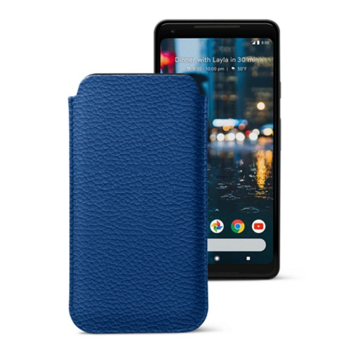 Sleeve for Google Pixel 2 XL - Royal Blue - Granulated Leather