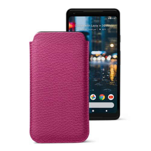 Sleeve for Google Pixel 2 XL - Fuchsia  - Granulated Leather