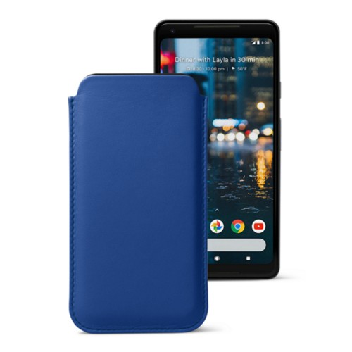 Sleeve for Google Pixel 2 XL - Royal Blue - Smooth Leather