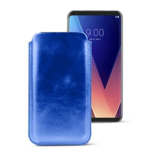 Classic case for LG V30 - Royal Blue - Metallic Leather