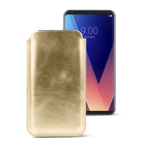Classic case for LG V30 - Golden - Metallic Leather