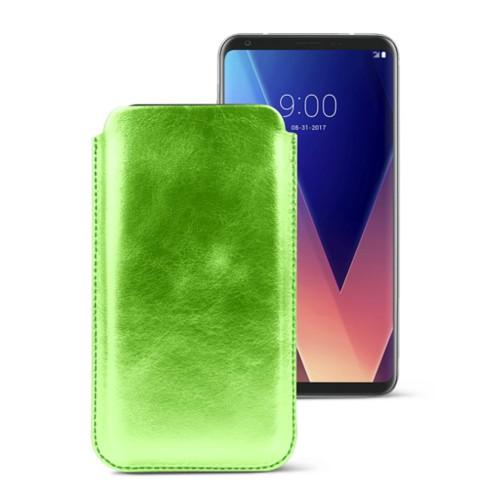 Classic case for LG V30 - Light Green - Metallic Leather