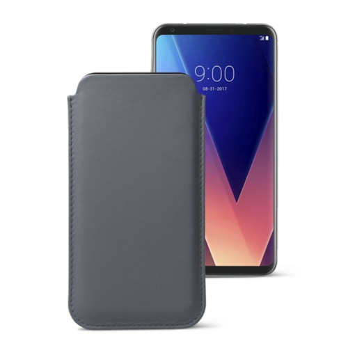Classic case for LG V30 - Mouse-Grey - Smooth Leather
