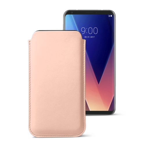 Classic case for LG V30 - Nude - Smooth Leather