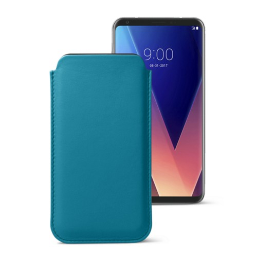 Classic case for LG V30 - Turquoise - Smooth Leather