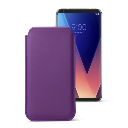LG V30用クラシックケース - Lavender - Smooth Leather