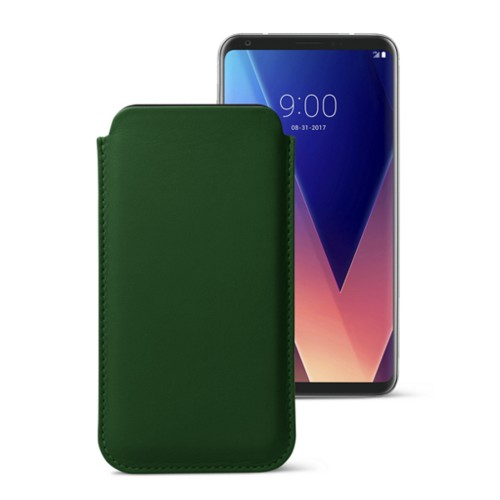Classic case for LG V30 - Dark Green - Smooth Leather