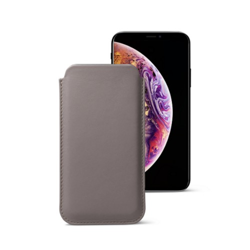 Classic Case for iPhone XS Max - Light Taupe - Smooth Leather