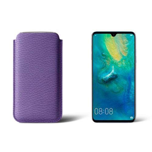 Beschermhoes Huawei Mate 20 - Lavendel - Korrelig Leer
