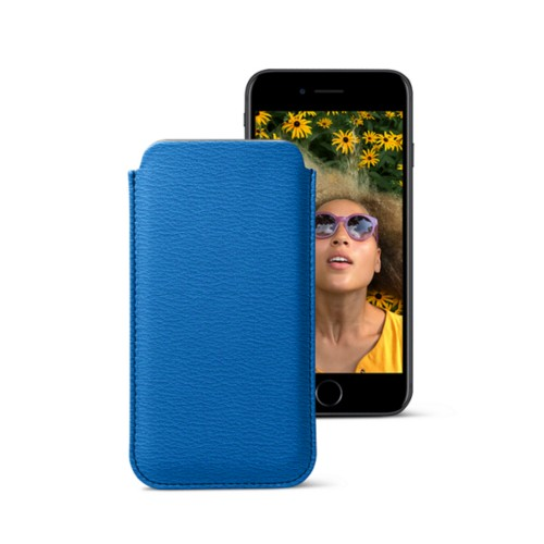 Classic case for iPhone 7 - Royal Blue - Goat Leather