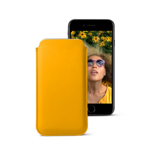 Classic case for iPhone 7 - Sun Yellow - Smooth Leather