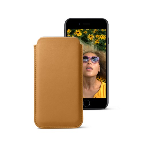 Classic case for iPhone 7 - Natural - Smooth Leather