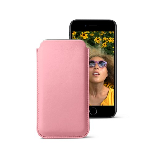 Classic case for iPhone 7 - Pink - Smooth Leather