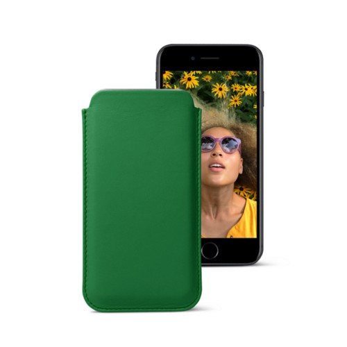 Classic case for iPhone 7 - Light Green - Smooth Leather