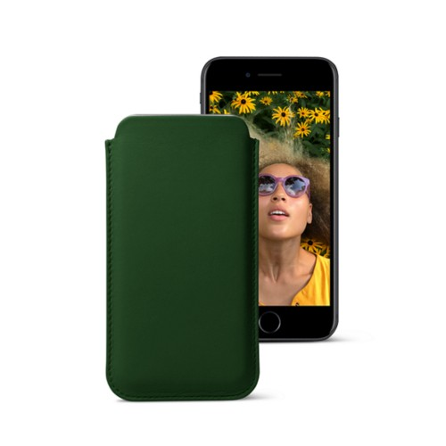Classic case for iPhone 7 - Dark Green - Smooth Leather