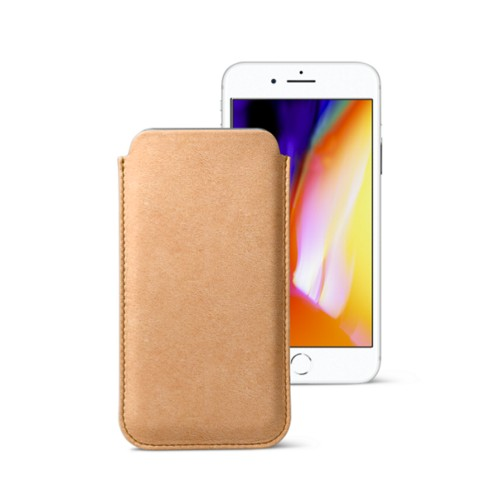 iPhone 8 slim sleeve - Natural - Vegetable Tanned Leather