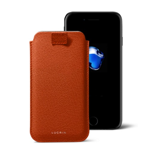 iPhone 7 Plus case with pull-up strap