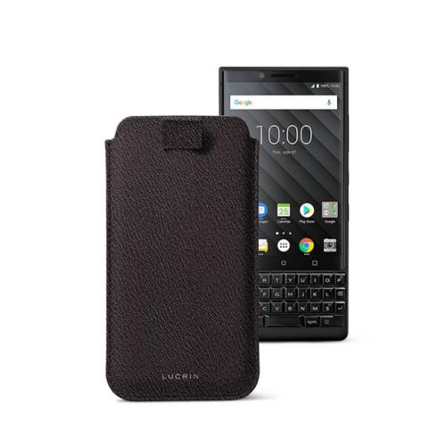 Étui Tirette BlackBerry Key 2/Key 2 LE - Marron Foncé - Cuir de Chèvre