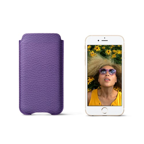 Protection case for iPhone 7 - Lavender - Granulated Leather