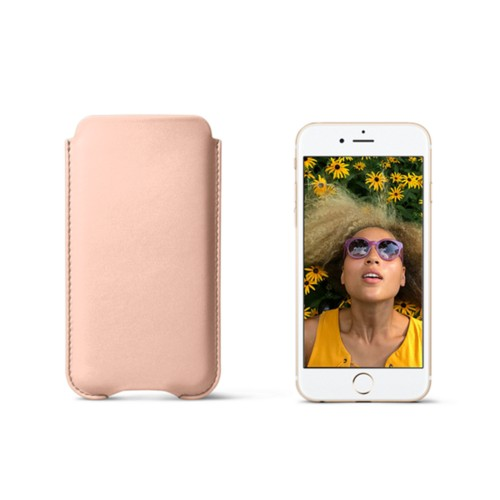Protection iPhone 7 - Nude - Cuir Lisse