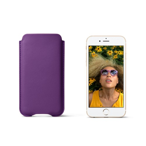Protection case for iPhone 7 - Lavender - Smooth Leather