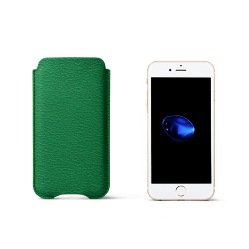 iPhone 7 Plus-Schutzhülle - Hellgrün - Ziegenleder