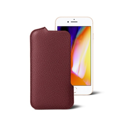 iPhone 8 Pouch - Burgundy - Goat Leather