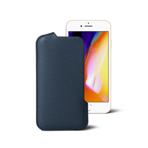 iPhone 8 Pouch - Navy Blue - Goat Leather
