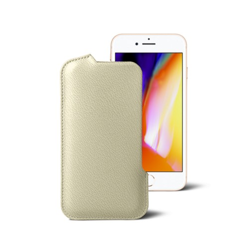 iPhone 8 Pouch - Off-White - Goat Leather