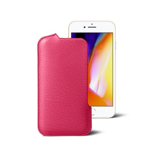 iPhone 8 Pouch - Fuchsia  - Goat Leather