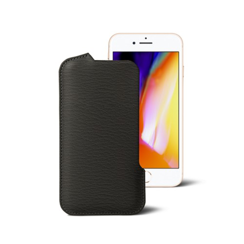 iPhone 8 Pouch - Mouse-Grey - Goat Leather