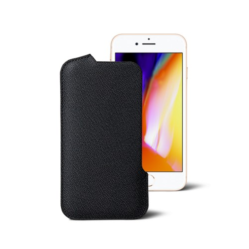iPhone 8 Pouch - Black - Goat Leather