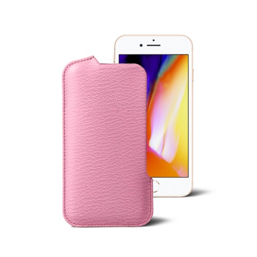 iPhone 8 Pouch - Pink - Goat Leather
