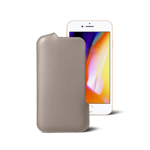 iPhone 8 Pouch - Light Taupe - Goat Leather