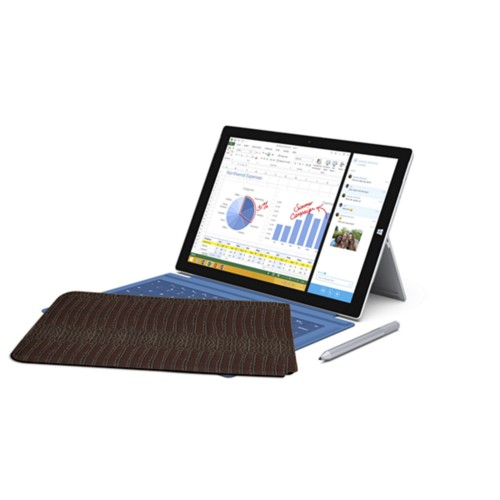 Case for Microsoft Surface Pro 3 - Brown - Crocodile style calfskin