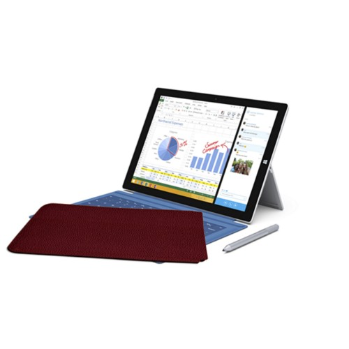 Case for Microsoft Surface Pro 3 - Burgundy - Granulated Leather