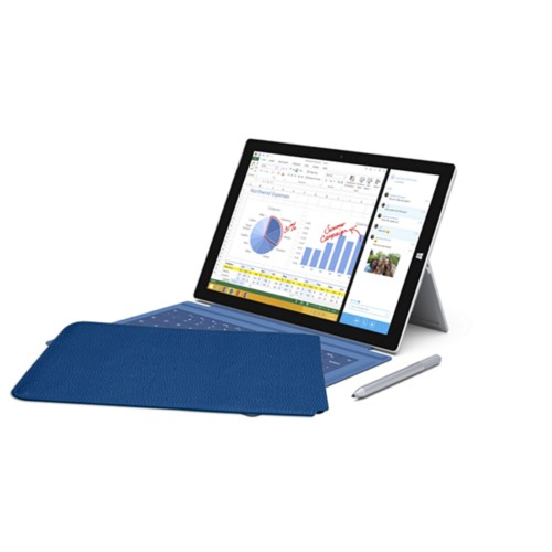 Case for Microsoft Surface Pro 3 - Royal Blue - Granulated Leather