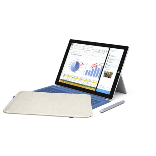 Case for Microsoft Surface Pro 3 - Off-White - Granulated Leather