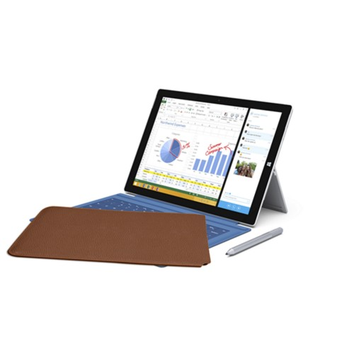 Case for Microsoft Surface Pro 3 - Tan - Granulated Leather