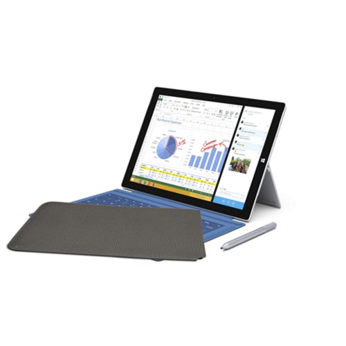 Case for Microsoft Surface Pro 3 - Mouse-Grey - Granulated Leather
