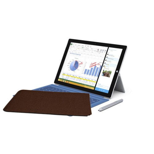 Case for Microsoft Surface Pro 3 - Brown - Granulated Leather