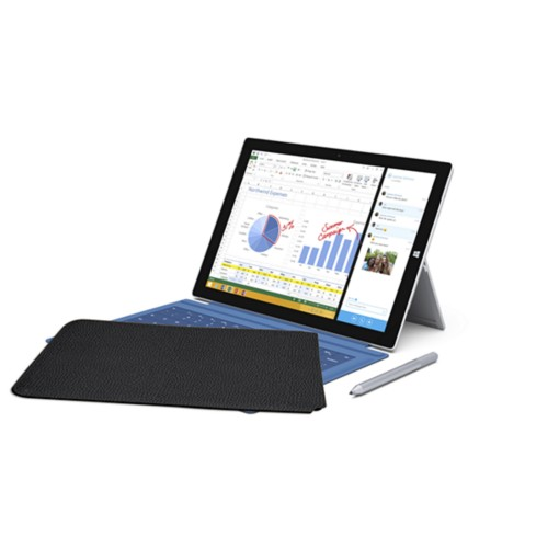 Case for Microsoft Surface Pro 3 - Black - Granulated Leather