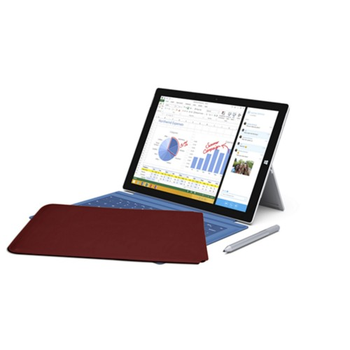 Case for Microsoft Surface Pro 3 - Burgundy - Smooth Leather