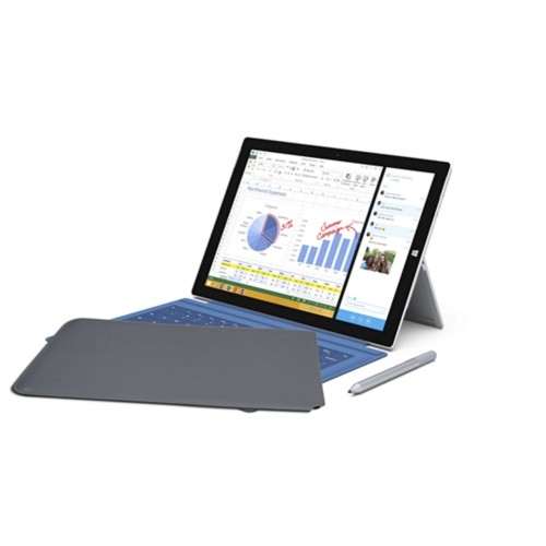 Case for Microsoft Surface Pro 3 - Mouse-Grey - Smooth Leather